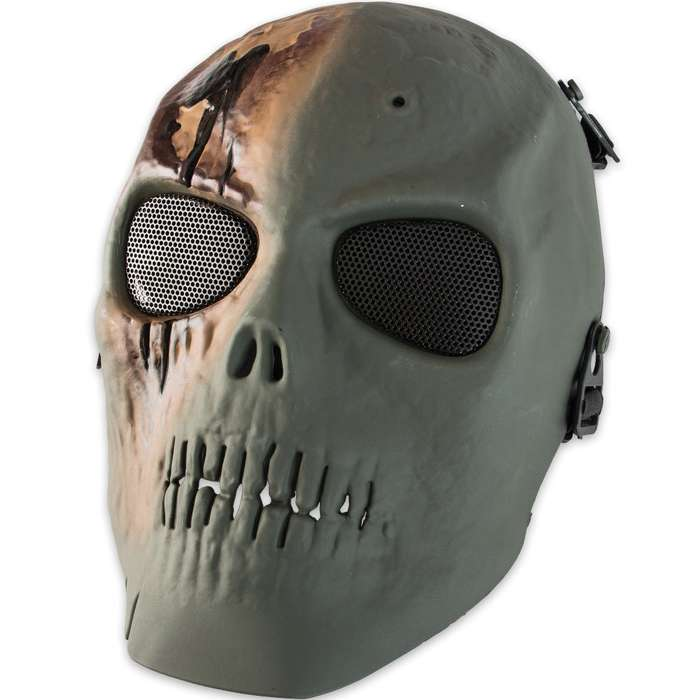 Airsoft Zombie Skull Mask ABS Green