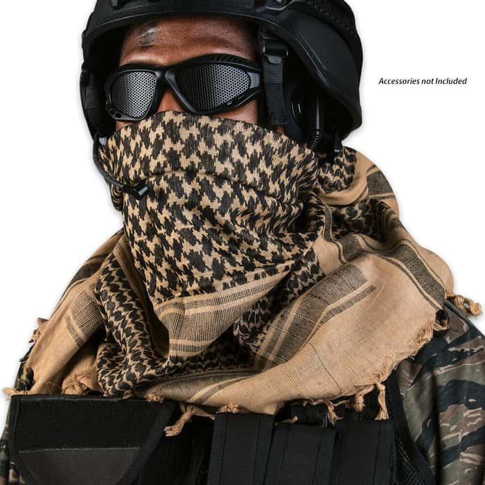 Khaki/Black Desert Scarf