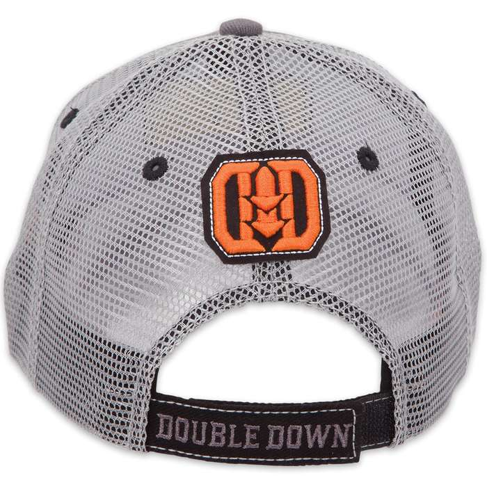 Double Down Crazy Nuts Trucker Cap - Blue-Gray Brushed Twill and Light Blue Polyester Mesh