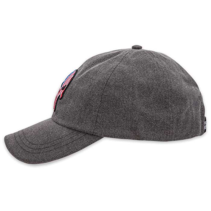 Double Down American Punisher Cap - Gray Cotton Twill