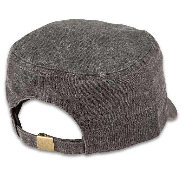 Grey Flat Top Vietnam Veteran Cap - Hat, 100 Percent Cotton Construction, Embroidered Design, Adjustable Band