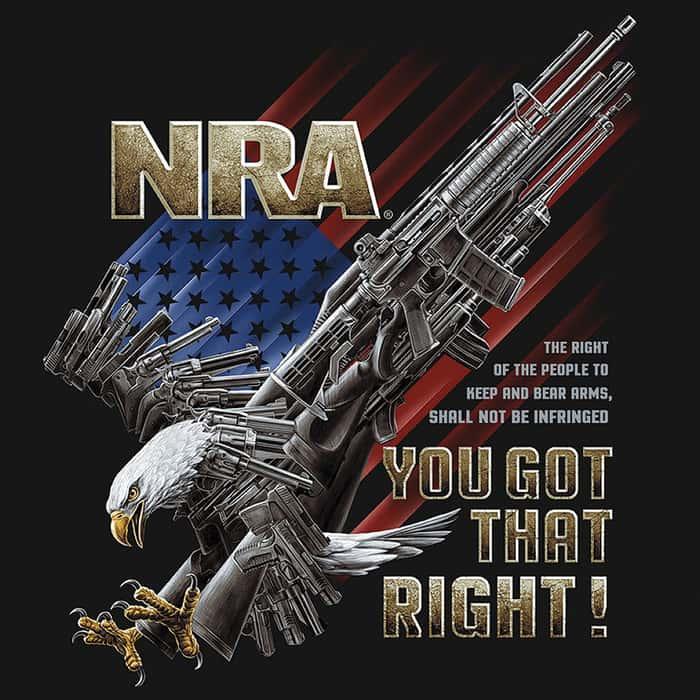 Buckwear NRA You Got That Right Black T-Shirt