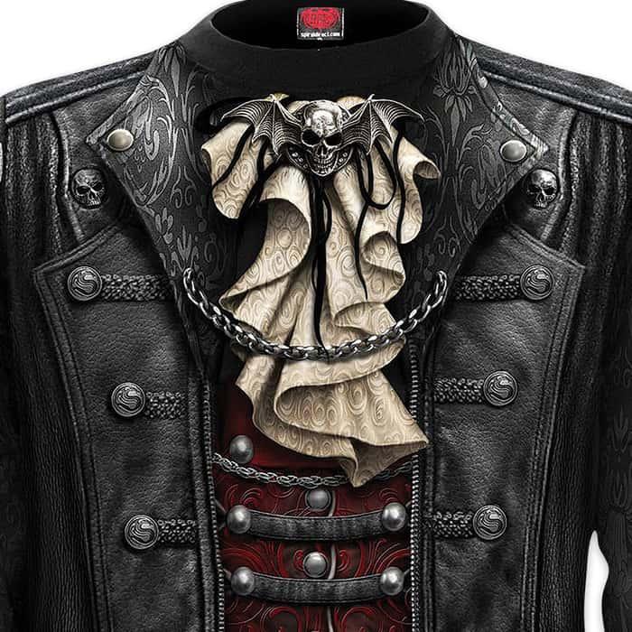 Black Goth Wrap - Allover T-Shirt Long-Sleeve