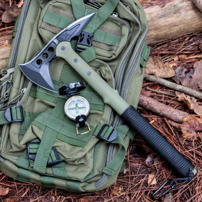 M48 Ranger Tomahawk Axe with Lensatic Compass and Sheath