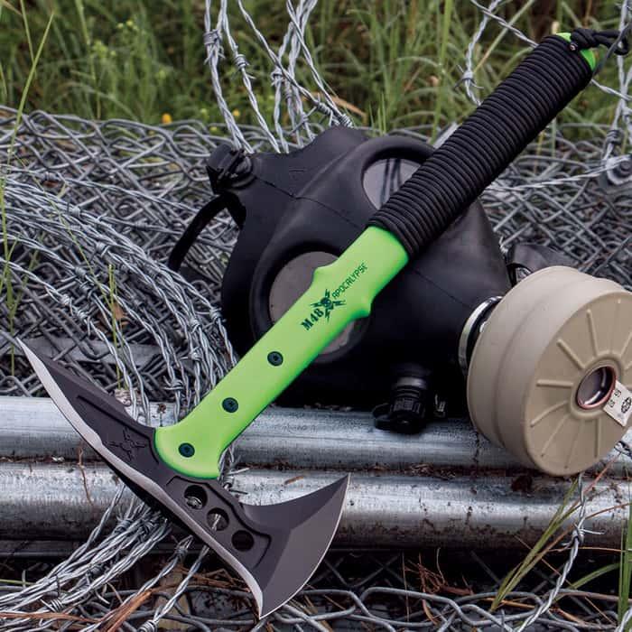 M48 Apocalypse Tactical Tomahawk Toxic Green & Sheath
