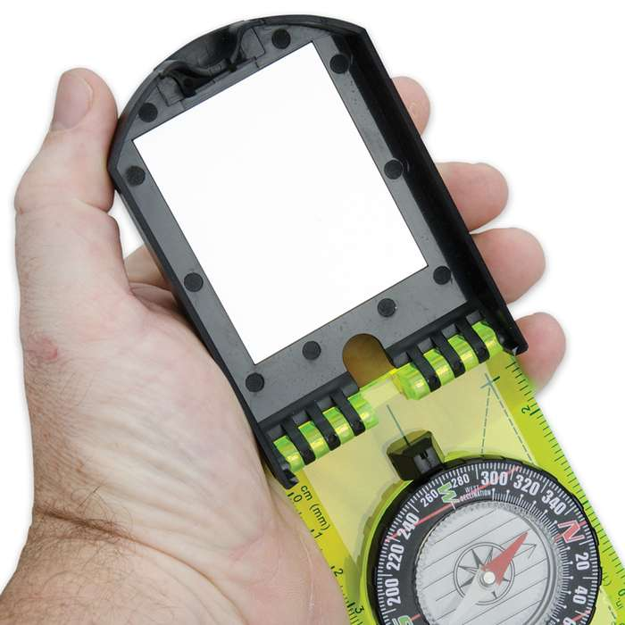 Multi-Functional Survival Compass with Signal Mirror 2 for 1
