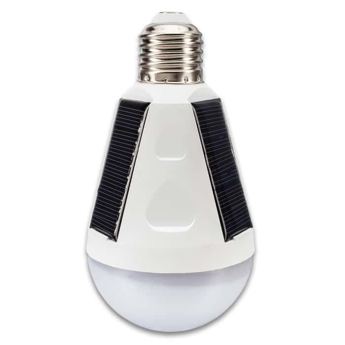 "Trailblazer LED Solar Emergency Hanging Light Bulb - 12 Watts, Energy Efficient, ABS Construction, 500 Lumens   - Length 5 4/5"""