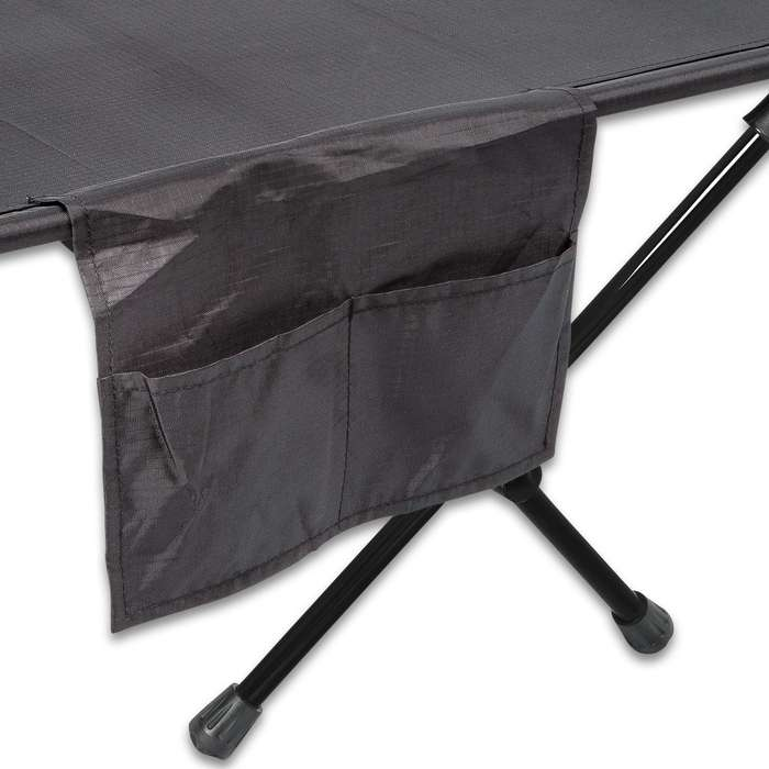 """Intense Ultra-Light Portable Cot With Carry Bag - Aluminum Alloy And Polyurethane-Coated 410D Oxford Polyester - Dimensions 74 1/2""""x 25 1/2""""x 8 7/10"""""""