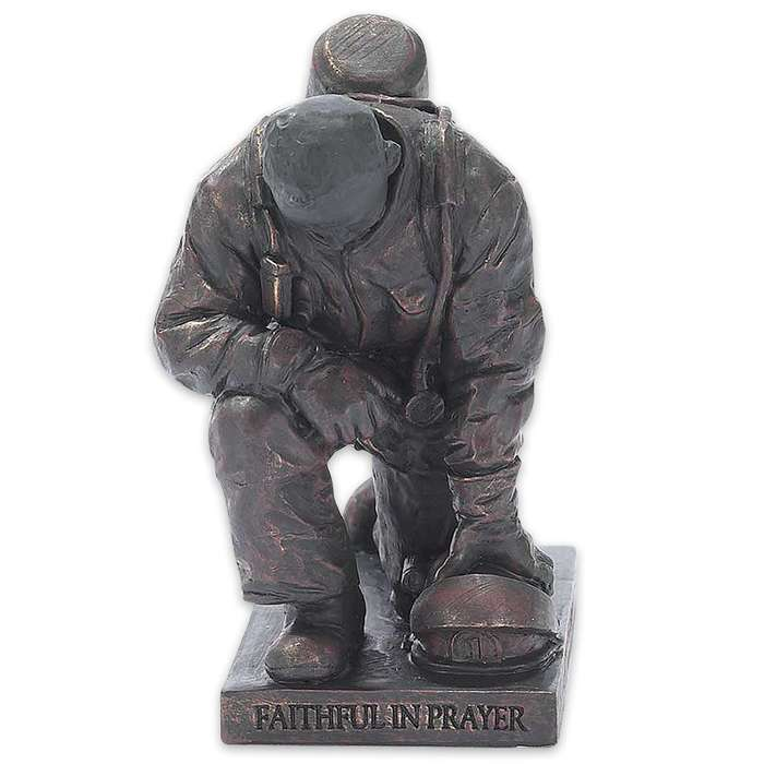 Called To Pray Firefighter Figurine