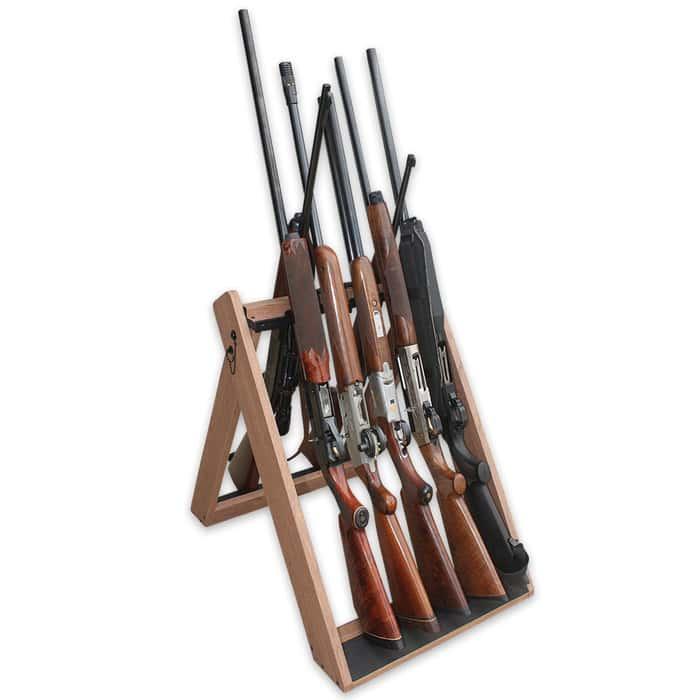 Deer Camp Portable 10-Gun Folding Storage