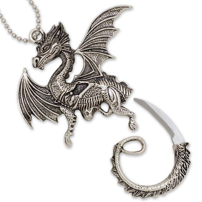 Coiled Dragon Necklace