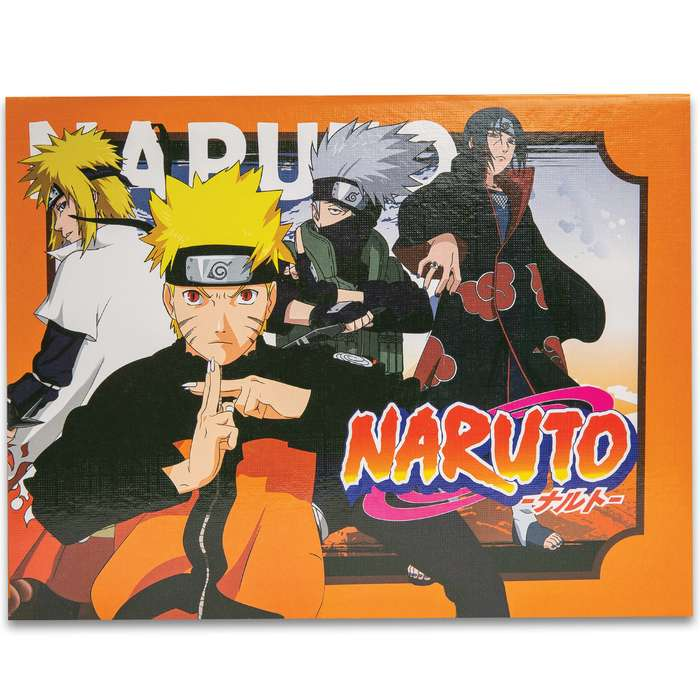"""Naruto Miniature Weapons Seven-Piece Set - Metal Alloy Construction, Engraved Red Accents, Fan Collectibles - Approximately 5"""""""