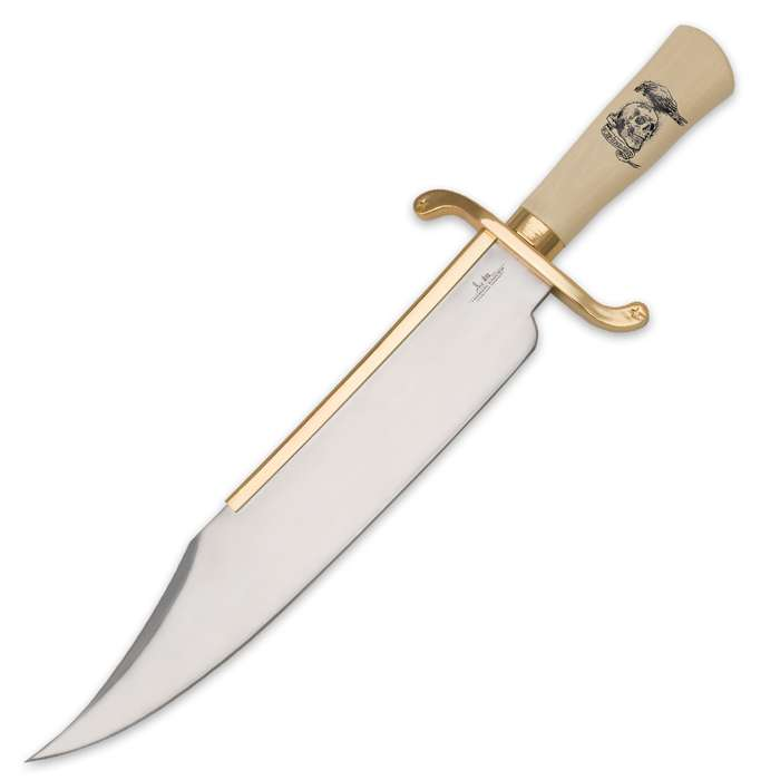 """Gil Hibben """"Expendables"""" Bowie Knife with Leather Sheath"""