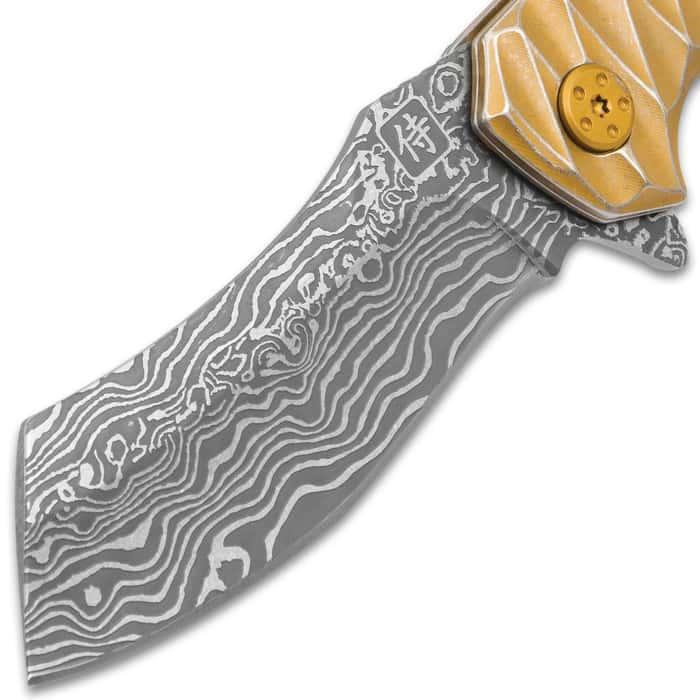 Golden Raven Samurai Razor Pocket Knife