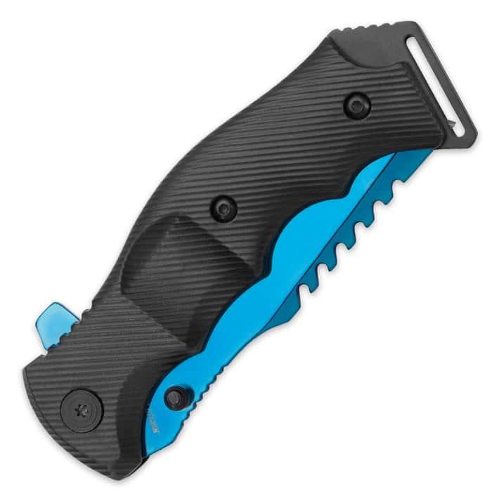 Black Legion Huntsman Blue Pocket Knife - BOGO