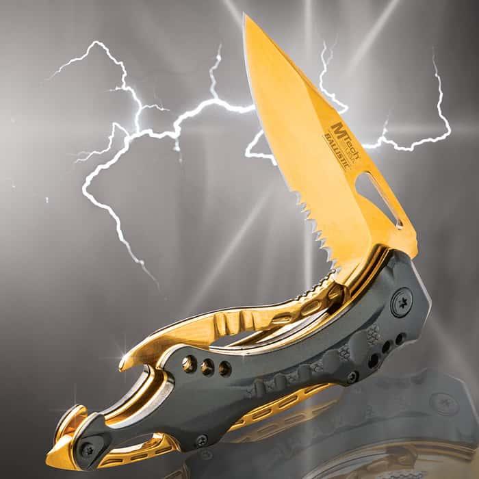 MTech USA Gold Ballistic Assisted Opening Pocket Knife
