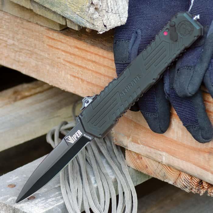 Schrade Viper OTF Assisted Opening Pocket Knife Dagger