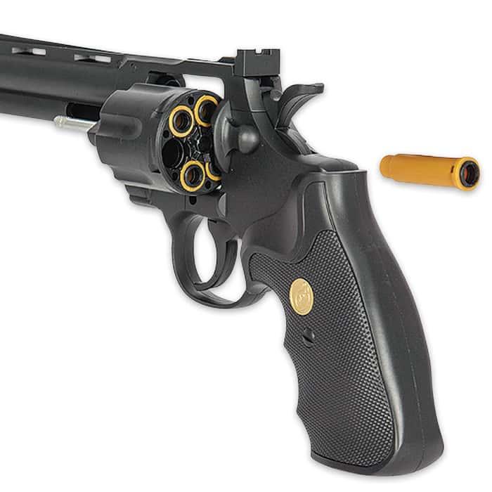 UK Arms Spring Revolver Airsoft Pistol - Black