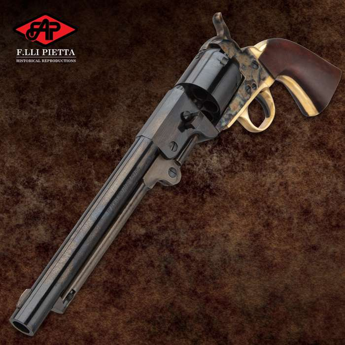 1862 Dance Black Powder Pistol - .44 Caliber, Single Shot, Casehardened Steel Frame, Walnut Grip - Overall Length 13 1/5""