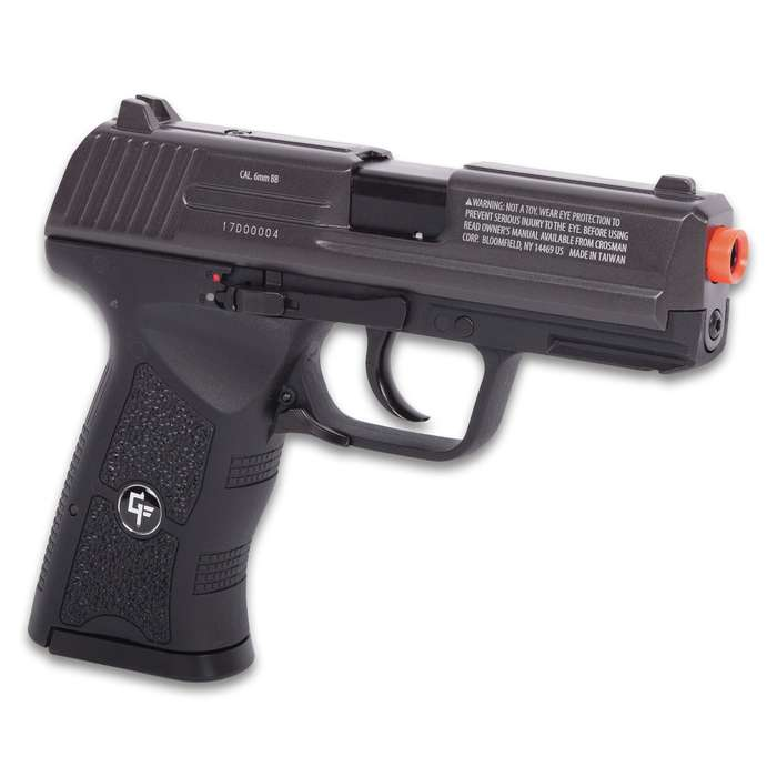 Insanity GBB CO2 Powered Blowback Air Pistol - Nylon Fiber Stock, Steel Barrel, Accessory Rail, 12-Round Magazine