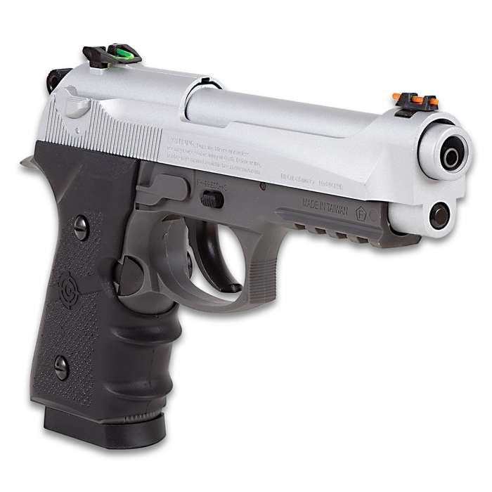 Crosman Mako Semi-Automatic CO2 Powered Air Pistol - Blowback Action, Steel Barrel, Polymer Body, 20-Round Magazine