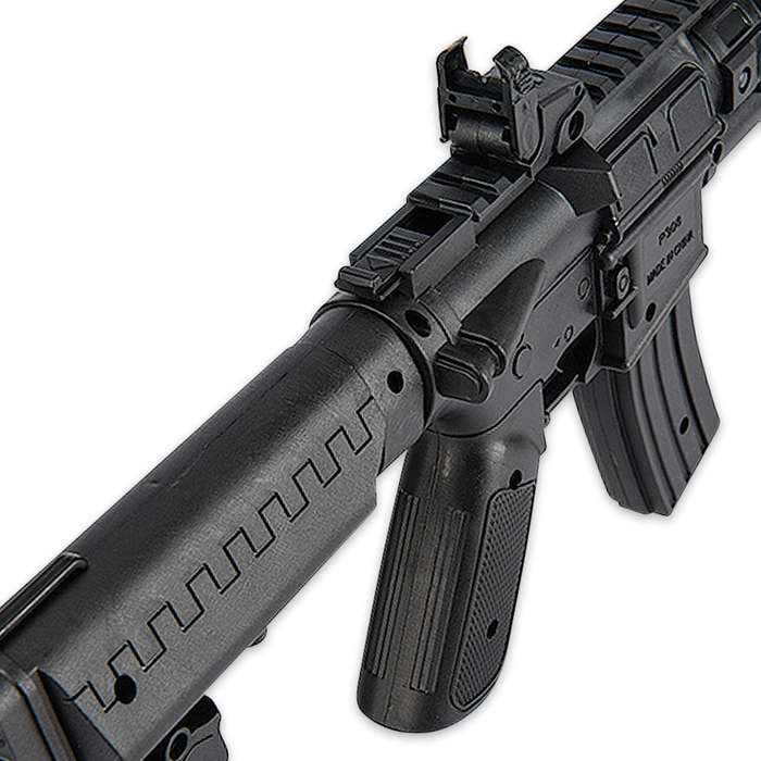 Spring Pump Action Tactical Airsoft Rifle with Sight and Laser - Black