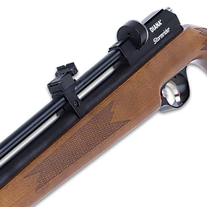 Diana Stormrider Multi-Shot .22 Caliber PCP Air Rifle - Checkered Beech Stock, Single-Stage Trigger, 7-Shot Rotary Magazine