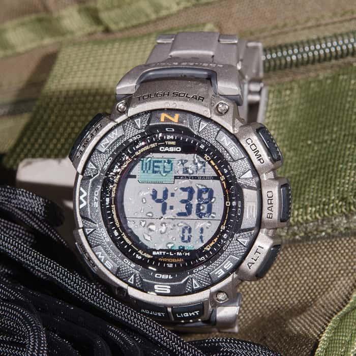 Casio Pathfinder PAG240T-7 Watch W/ Titanium Band
