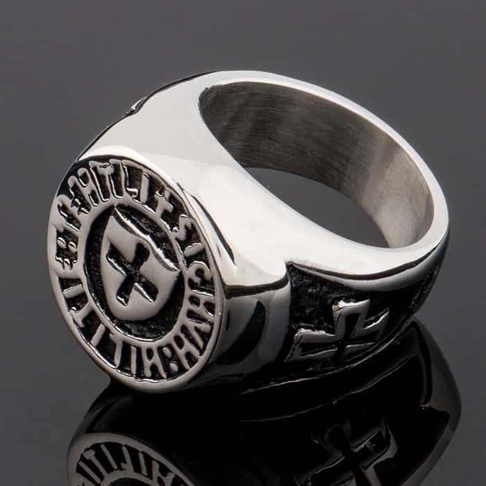 Shield Cross Ring