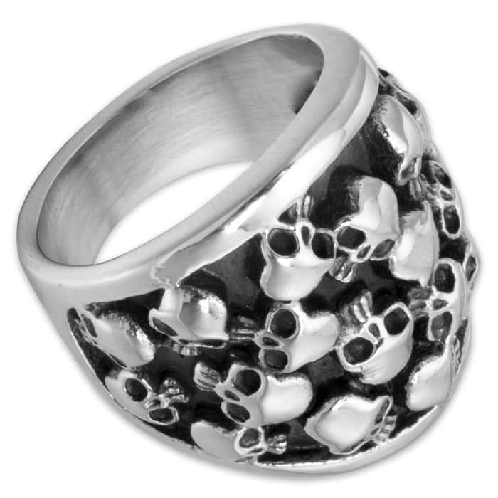 Bag of Bones Stainless Steel Men's Ring