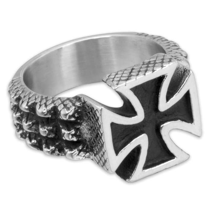 Spiked Chopper Stainless Steel Men's Ring