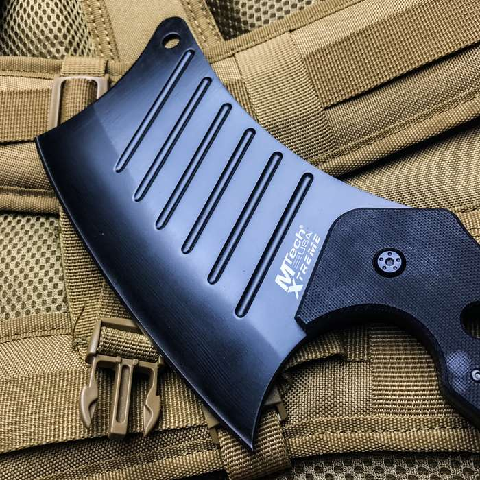 Karambit Style Fixed Blade Cleaver Knife With Sheath