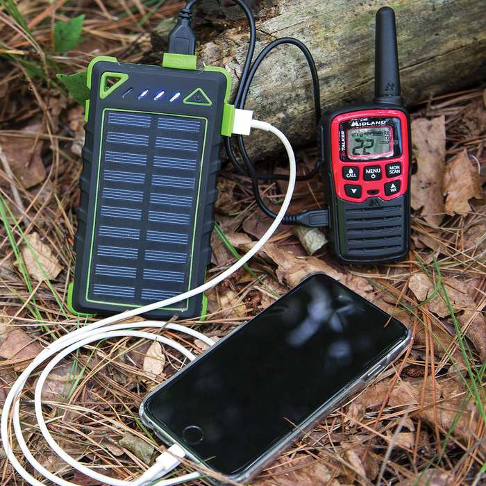 8,000 MAH Solar Charger And Power Bank With Carabiner