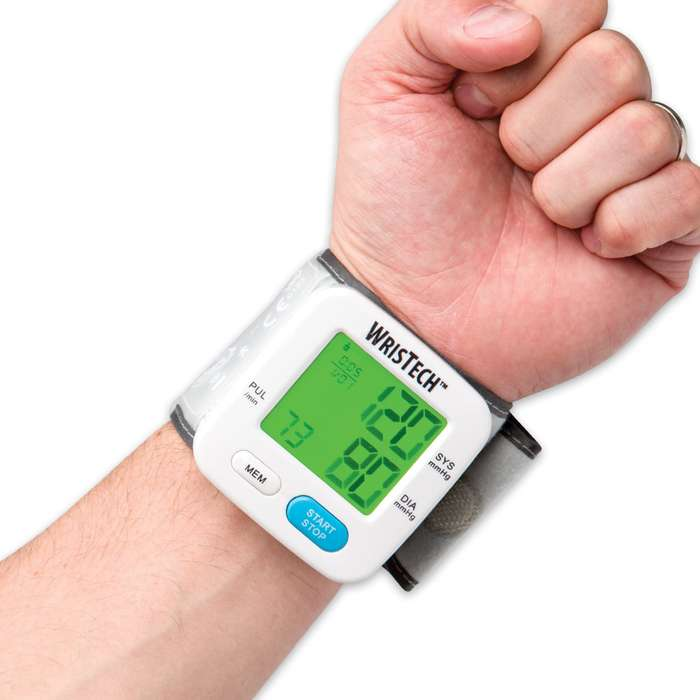 Color-Changing Wrist BP Monitor
