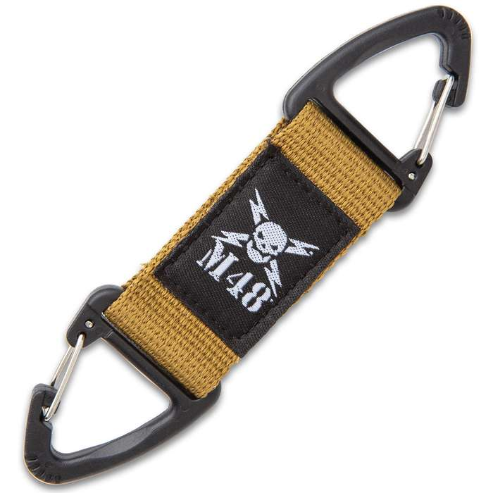 """Three-Pack Tactical Webbing Clips - Nylon Webbing And ABS Construction - Dimensions 4""""x1"""""""