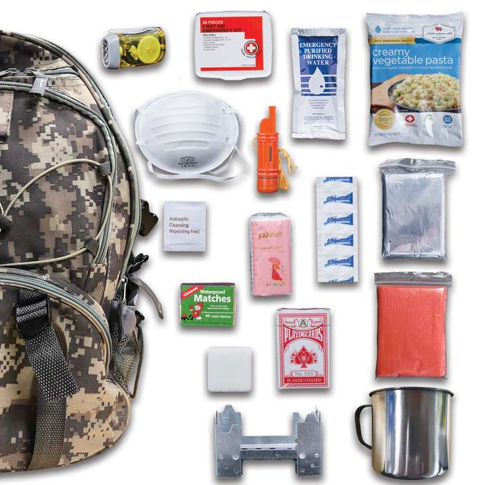 Wise Company 5-Day Emergency Survival Kit - ACU Camo Backpack