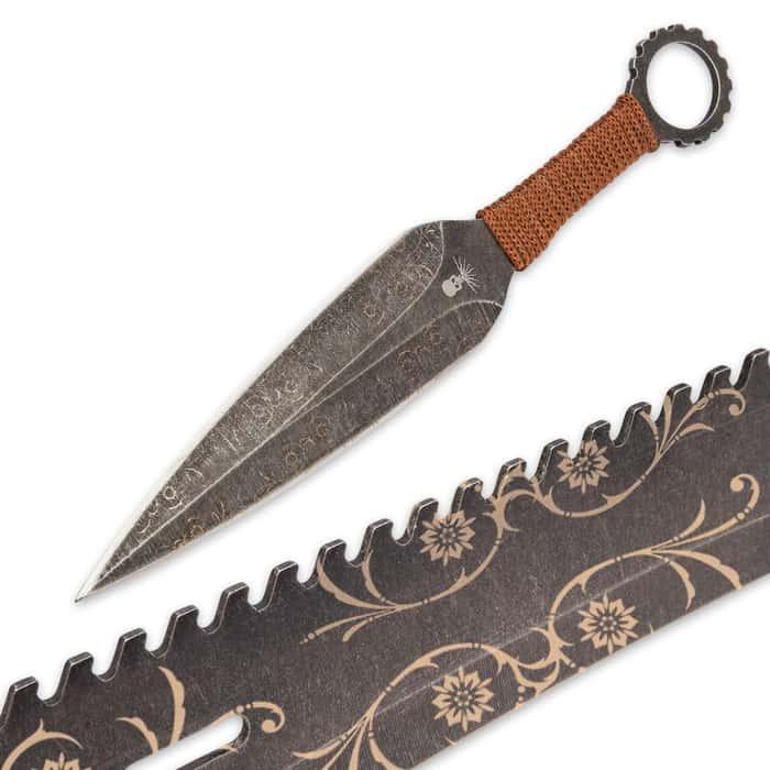 Black Legion Explorer Machete And Throwing Knives