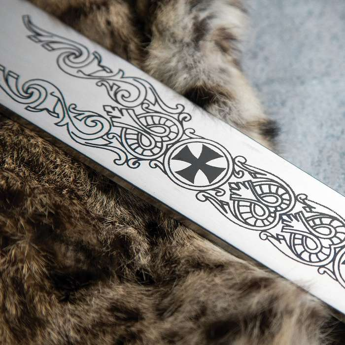 Legends In Steel Knights Templar Long Sword and Wall Plaque