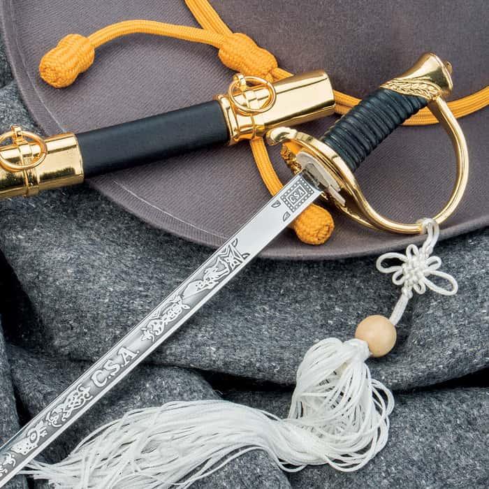 Historical CSA Cavalry Saber Replica Sword