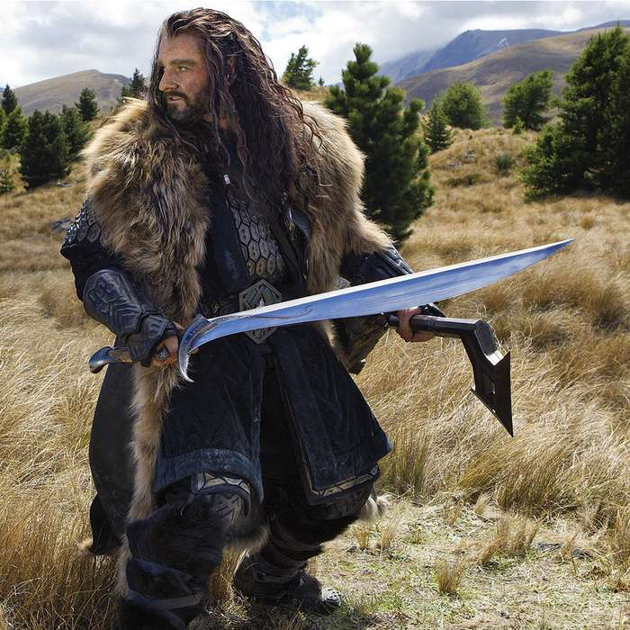 """United Cutlery Orcrist Sword Of Thorin Oakenshield From The Hobbit With Wall Plaque - 38 3/4"""" Length"""