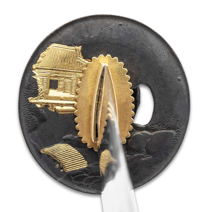Hand-Forged Samurai Sword with Red Dragon Scabbard