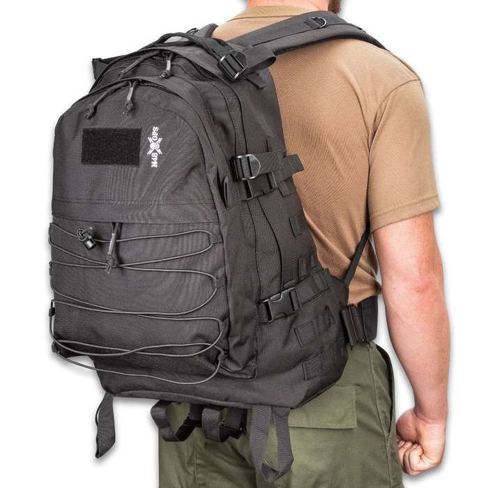 """M48 Mission Seven Backpack - 900D Oxford Material, PVC Lining, Padded Shoulder And Waist Straps, Compression Straps - Dimensions 20""""x 16""""x 8"""""""