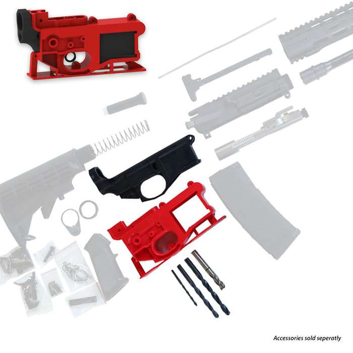 AR-15 80% Lower Receiver And Jig Kit - Polymer80