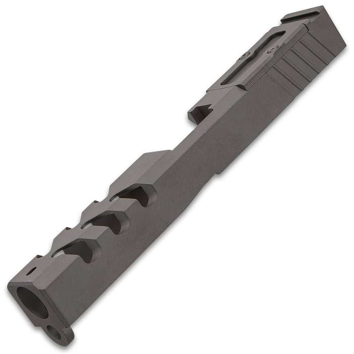 Glock 17 Slide With RMR Cut And Cover Plate - 9MM, Fits 17/22/31 Frames, Machined 416R Stainless Steel, Ceracoted Finish