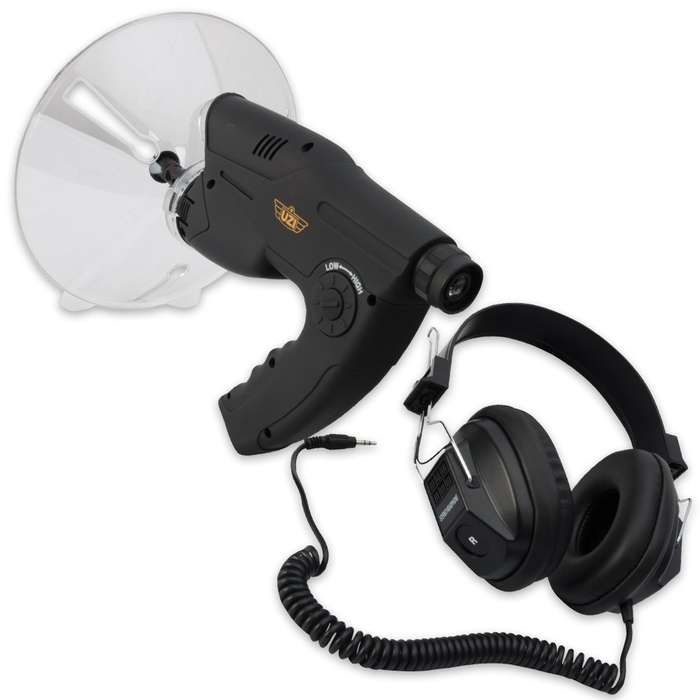 Uzi UZIOD1 Observation Device Handheld Device Features Parabolic Sound Collector
