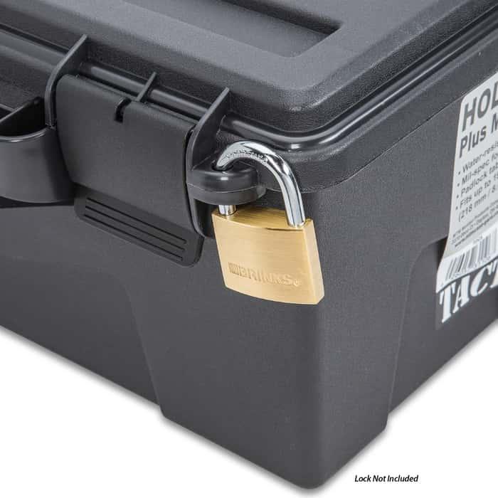 MTM Tactical Pistol Handgun Case - Six Guns, O-Ring Seal, Foam Lined, Triple Tabbed, Flexible Storage Area