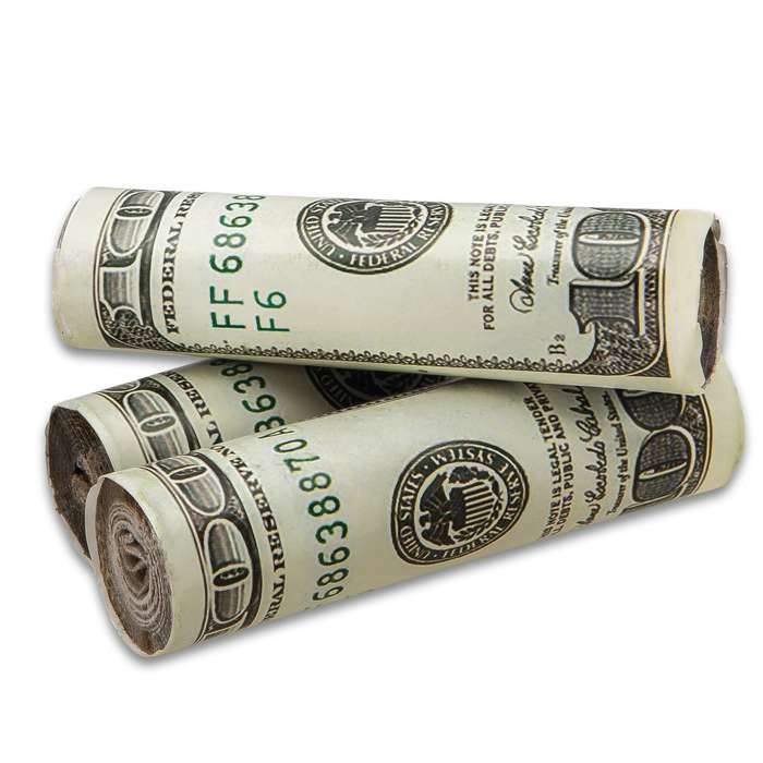 "Trailblazer Money Fire Starter - Three Pack, Faux Hundred Dollar Bills, Wax-Coated, Slow-Burning - Dimensions 1""x 4"""