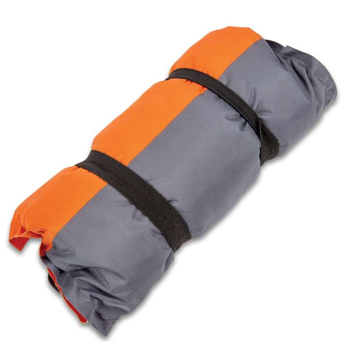 """Intense Self-Inflating Camping Pillow With Carry Bag - Polyester Outer, Polyurethane Filling, Lightweight - Dimensions 16""""x 9 1/2"""""""