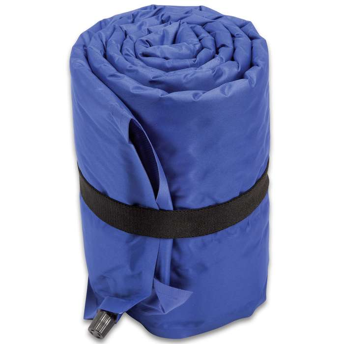 "Intense Self-Inflating Air Mat With Carry Bag - Polyester Outer, Polyurethane Filling, Lightweight - Dimensions 72""x 22"""