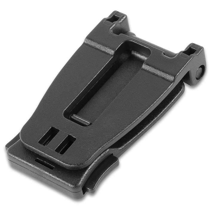 """M48 MOLLE Webbing Connecting Buckle Clip - Five-Pack, Sturdy POM Construction, One-Handed Release - Dimensions 2""""x 1"""""""